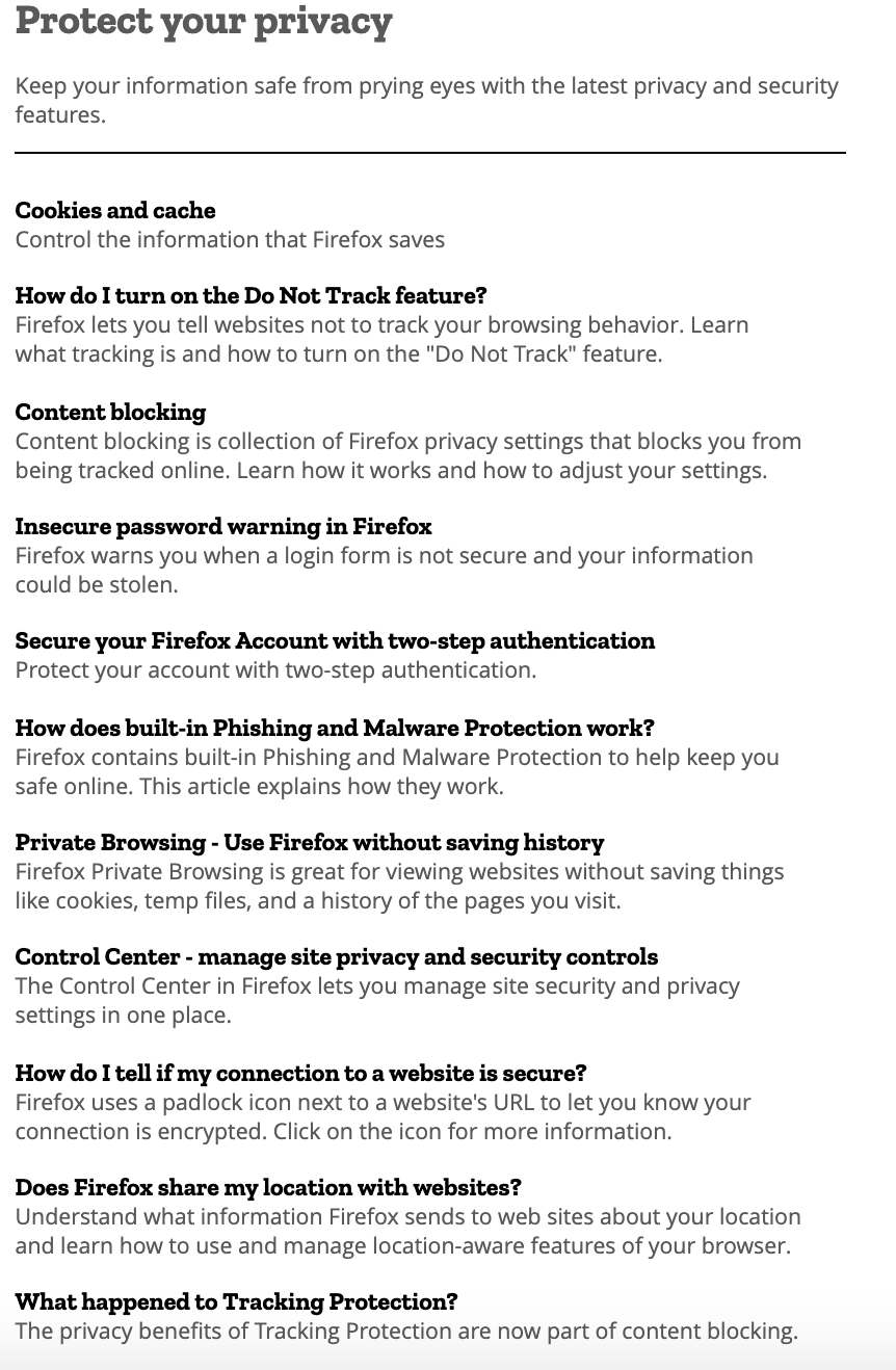 Impressive security & privacy features of Firefox – Cyber Security
